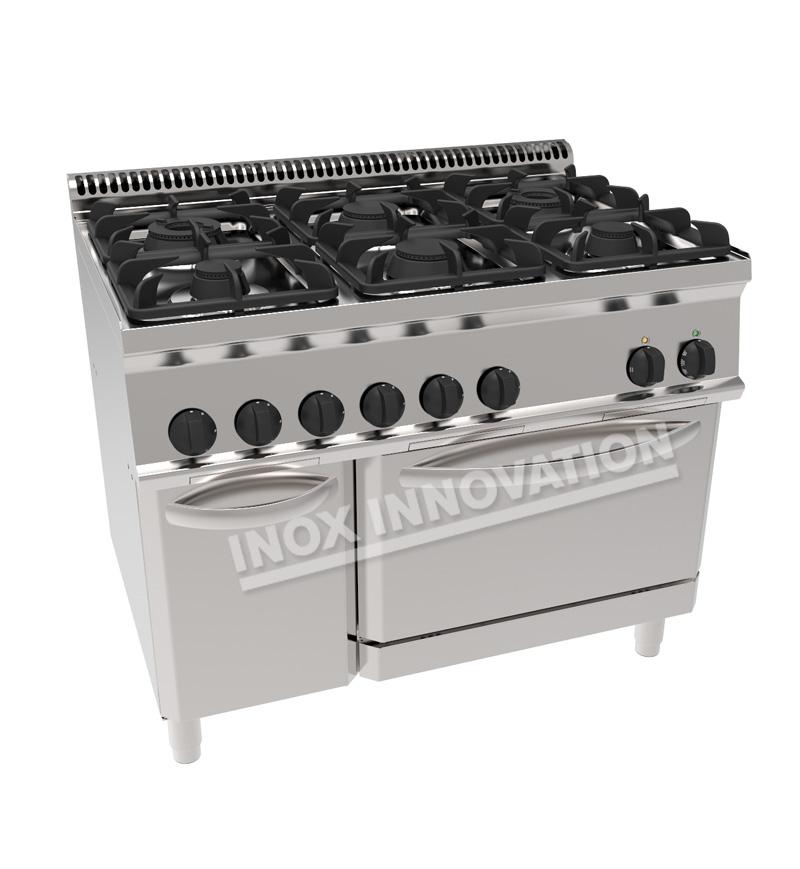 Cucina Prestige 6 Fuochi Con Forno Gas Su Mobile 1200x700