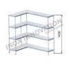 Scaffale angolo sinistro 1 + 1 moduli 4 ripiani – H 1430