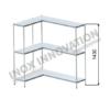 Scaffale angolo sinistro 1 + 1 moduli 3 ripiani – H 1430