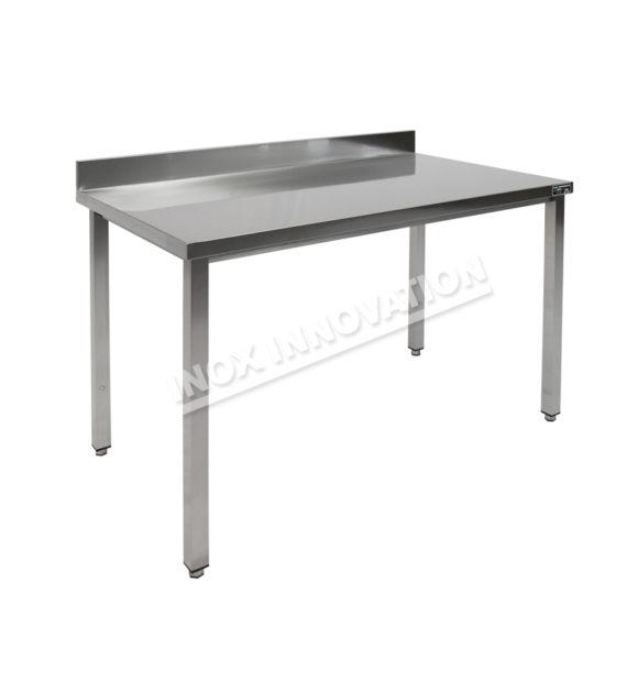 Tavolo aperto piano con alzatina senza sottopiano