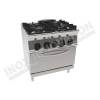 Cucina 4 fuochi con forno elettrico 700×700 linea 700 Compact