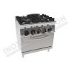 Cucina 4 fuochi con forno elettrico ventilato 700×700 linea 700 Compact