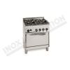 Cucina 4 fuochi con forno gas 700×700 linea 700 Compact
