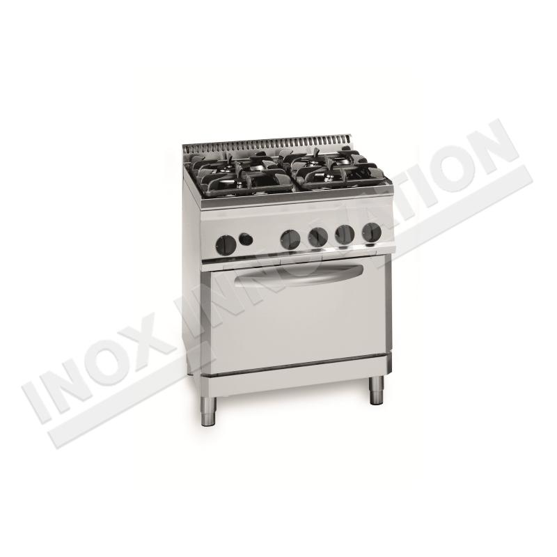 Cucina 4 fuochi con forno gas 700x700 linea 700 Compact