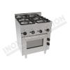 Cucina 4 fuochi con forno ventilato elettrico 700×600 linea 600