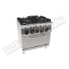 Cucina 4 fuochi con forno elettrico ventilato 800×900 linea 900 Prestige
