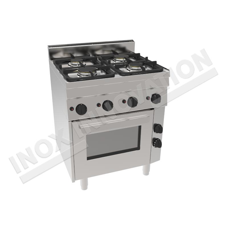 Cucina 4 fuochi con forno gas 700x600 linea 600