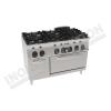 Cucina 6 fuochi con forno elettrico ventilato 1050×700 linea 700 Compact