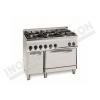 Cucina 6 fuochi con forno gas 1050×700 linea 700 Compact