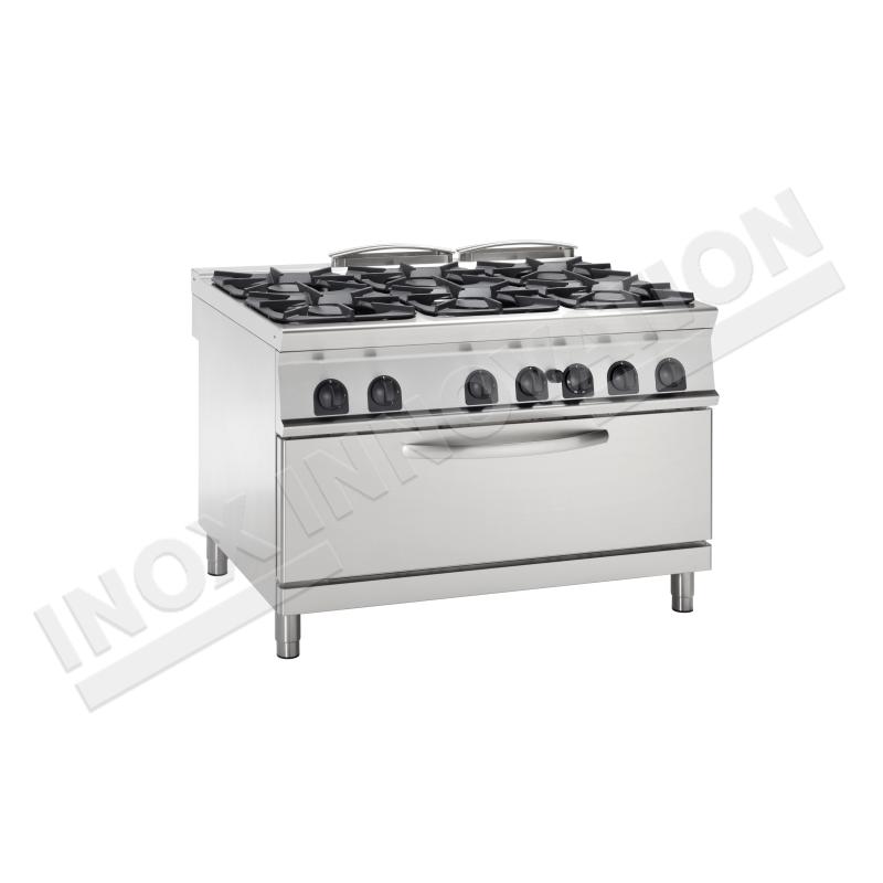 Cucina 6 Fuochi Con Forno Maxi Gas 1050x700 Linea 700 Compact Inoxinnovation Inoxinnovation Com