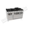 Cucina 6 fuochi con forno elettrico 1200×900 linea 900 Prestige