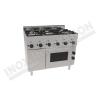 Cucina 6 fuochi con forno ventilato elettrico 1050×600 linea 600