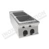 Cucina elettrica da banco 2 piastre quadrate 400×700 linea 700 Prestige