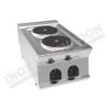 Cucina elettrica da banco 2 piastre rotonde 400×700 linea 700 Prestige