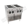 Cucina elettrica 4 piastre quadrate 800×700 linea 700 Prestige