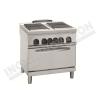Cucina elettrica 4 piastre quadrate con forno elettrico ventilato 800×700 linea 700 Prestige
