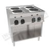 Cucina elettrica 4 piastre rotonde 800×700 linea 700 Prestige