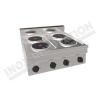 Cucina elettrica da banco 4 piastre rotonde 800×700 linea 700 Prestige