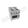 Cucina elettrica 4 piastre rotonde con forno elettrico ventilato 700×600 linea 600