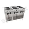 Cucina elettrica 6 piastre quadrate 1200×700 linea 700 Prestige