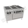 Cucina elettrica 6 piastre quadrate con forno elettrico ventilato 1050×700 linea 700 Compact