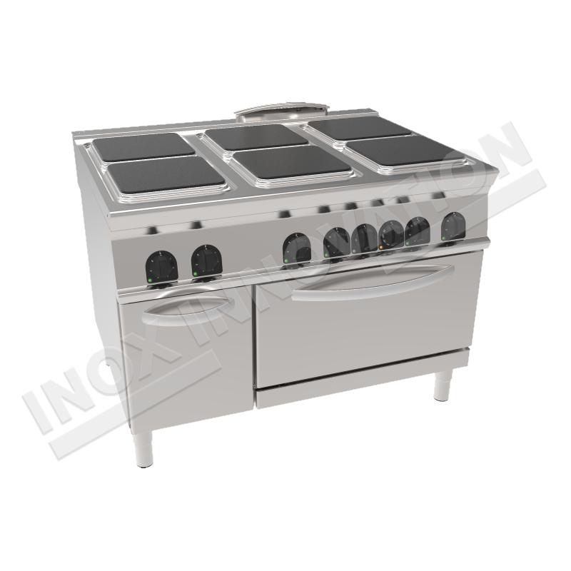 Cucina elettrica 6 piastre quadrate con forno elettrico - Cucina con piastre e forno elettrico ...