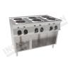 Cucina elettrica 6 piastre rotonde 1050×600 linea 600