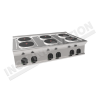 Cucina elettrica da banco 6 piastre rotonde 1050×700 linea 700 Compact