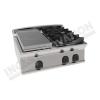 Cucina a gas 2 fuochi con piastra riscaldante da banco 800×700 linea 700 Prestige