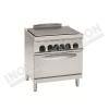 Cucina tuttapiastra elettrica con forno elettrico 700×700 linea 700 Compact