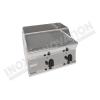 Fry top elettrico piastra 1/3rigata da banco 700×600 linea 600