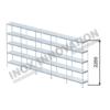 Scaffale lineare 5 moduli 5 ripiani – H 2250