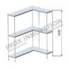 Scaffale angolo destro 1 + 1 moduli 3 ripiani – H 1430