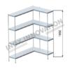 Scaffale angolo destro 1 + 1 moduli 4 ripiani – H 1850