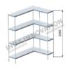 Scaffale angolo destro 1 + 1 moduli 4 ripiani – H 2250
