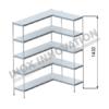 Scaffale angolo destro 1 + 1 moduli 5 ripiani – H 1430
