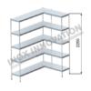 Scaffale angolo destro 1 + 1 moduli 5 ripiani – H 2250