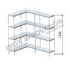 Scaffale angolo sinistro 2 + 1 moduli 4 ripiani – H 1430