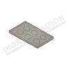 Teglia in alluminio teflonata antiaderente per frittatine